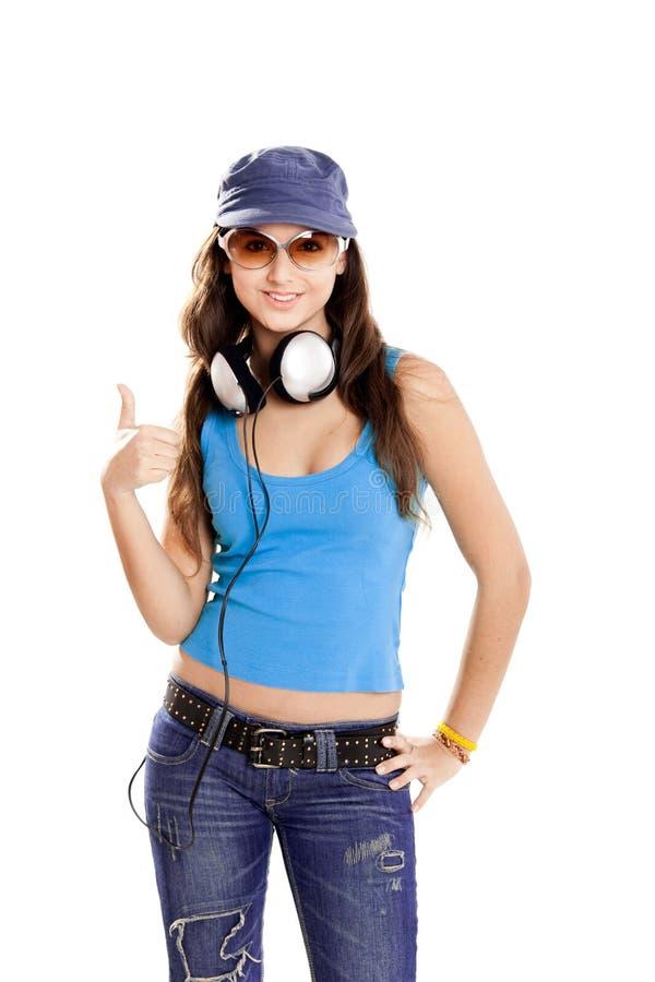 Download Dziewczyna Słucha Muzycznych Potomstwa Zdjęcie Stock - Obraz złożonej z muzyka, joyce: 13342966