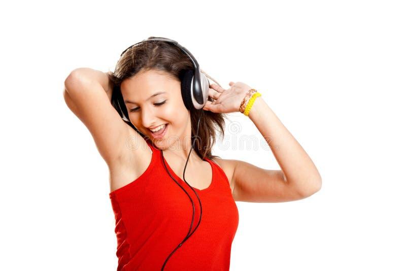 Download Dziewczyna Słucha Muzycznych Potomstwa Obraz Stock - Obraz złożonej z joyce, patrzeje: 13342973