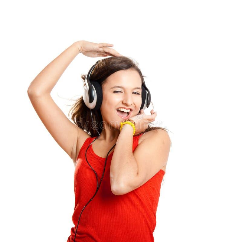 Download Dziewczyna Słucha Muzycznych Potomstwa Obraz Stock - Obraz złożonej z mienie, piękny: 13342975
