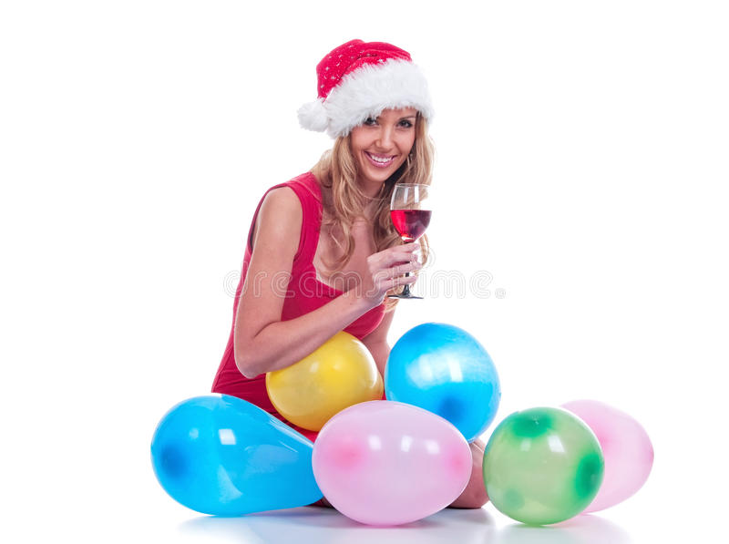 dziewczyna Santa zdjęcia stock