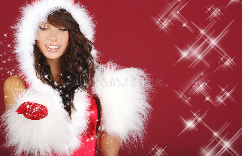 Download Dziewczyna Santa seksowny obraz stock. Obraz złożonej z moda - 7085853