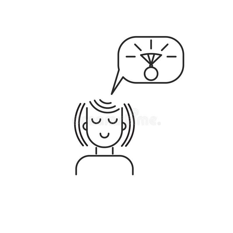 Dziewczyna sen prezent ilustracja wektor
