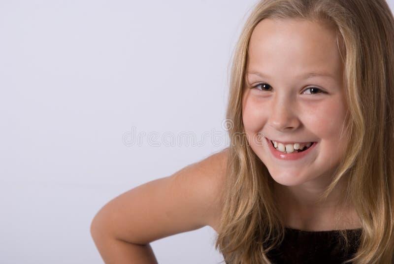 dziewczyna się uśmiecha obrazy stock