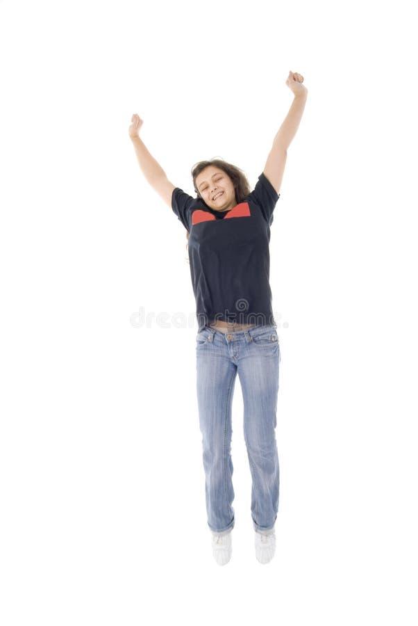 dziewczyna skacze nastoletniego zdjęcia royalty free