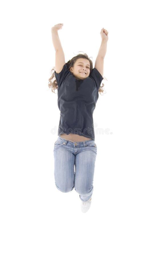 dziewczyna skacze nastoletniego obraz stock