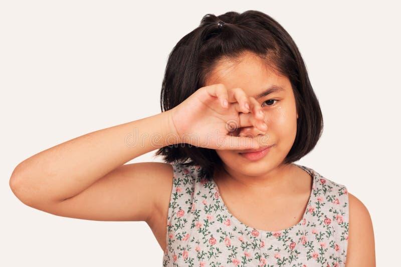 Dziewczyna smutna i płacz obrazy stock
