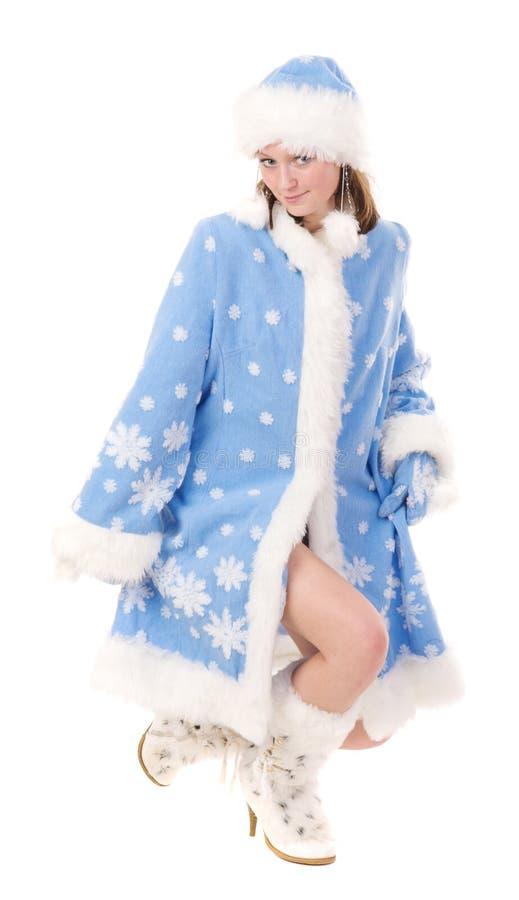 dziewczyna szczęśliwy śnieg zdjęcia royalty free