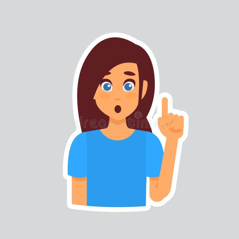 Dziewczyna Szokujący majcher Dla gona, etykietki ikony Kolorowy logo ilustracja wektor