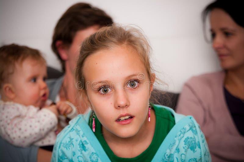 dziewczyna szokujący nastoletni obraz stock