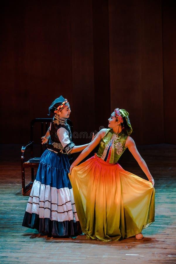 Dziewczyna tana dramata Axi Yi ludowy taniec obrazy royalty free