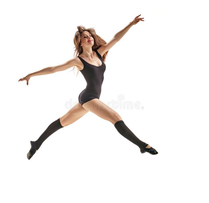 Dziewczyna tancerz skacze fotografia stock