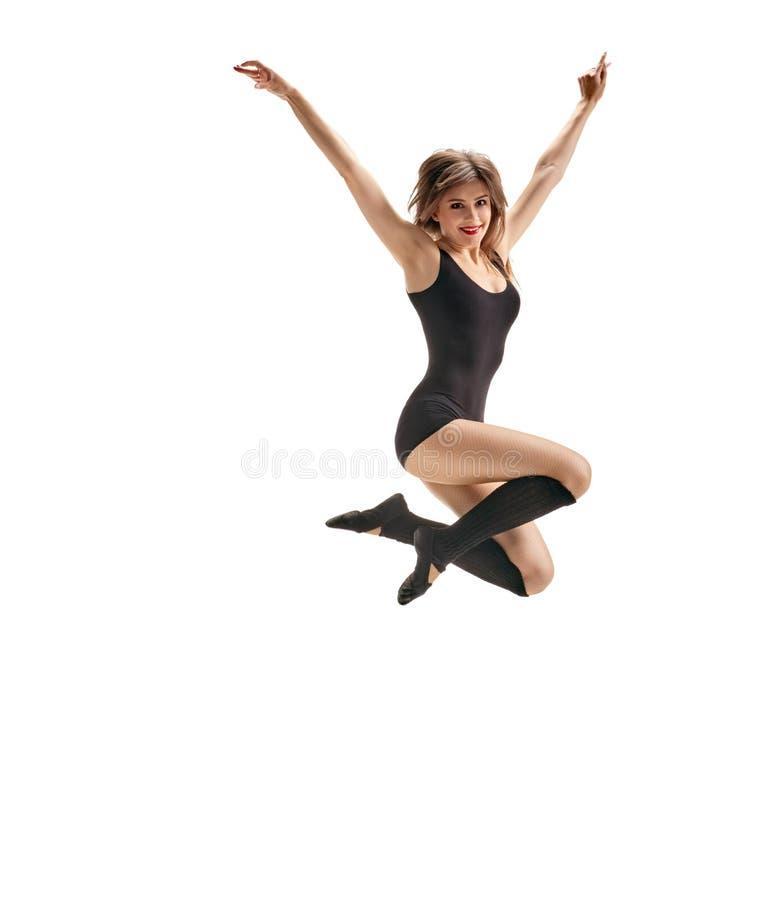 Dziewczyna tancerz skacze zdjęcia royalty free
