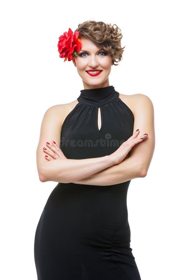 Dziewczyna tancerz w tango sukni obrazy stock