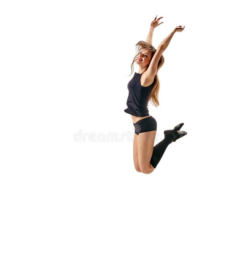 Dziewczyna tancerza latanie zdjęcia royalty free