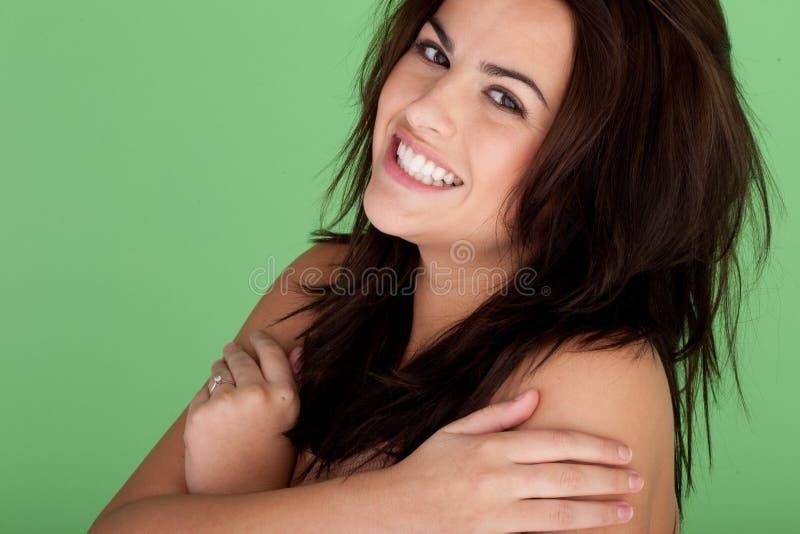 dziewczyna target1161_0_ naturalny ja target1163_0_ zdjęcia stock