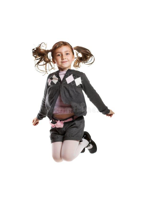 dziewczyna target1247_1_ małego biel obraz stock