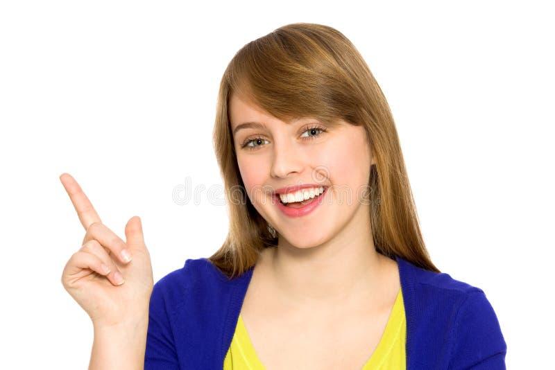 dziewczyna target500_0_ wskazywać obrazy royalty free