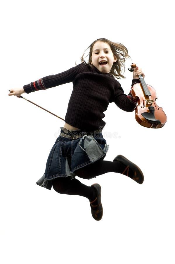 dziewczyna target971_1_ małego skrzypce obraz stock