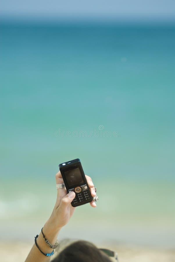 dziewczyna telefonu przy telefonie fotografia royalty free
