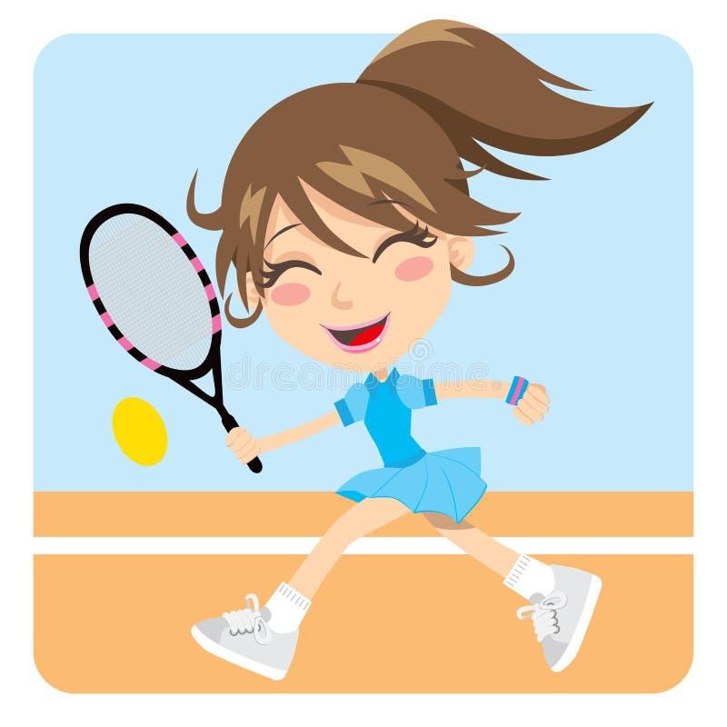 dziewczyna tenis ilustracji