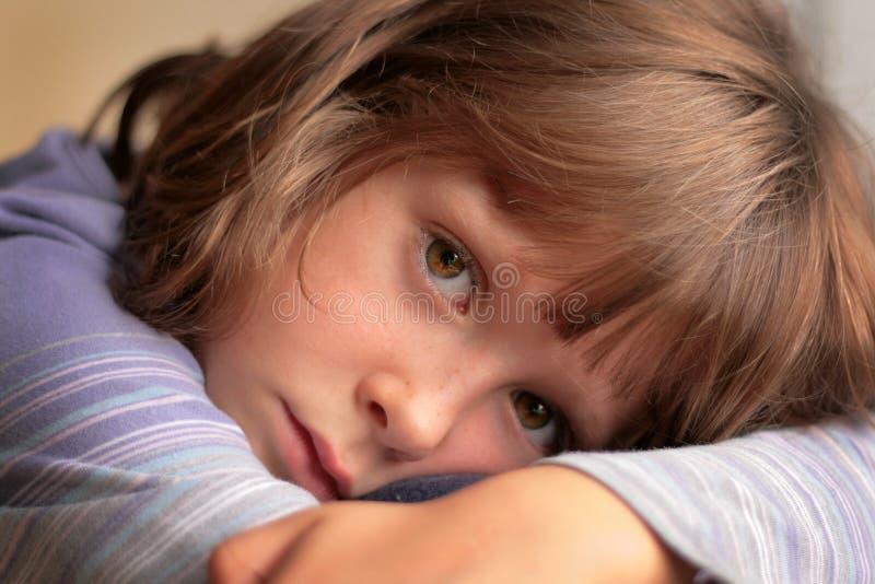dziewczyna trochę smutna obraz stock