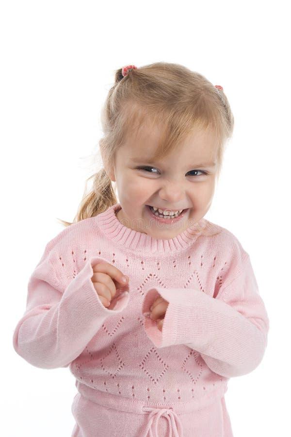 dziewczyna trochę sowizdrzalska zdjęcie stock