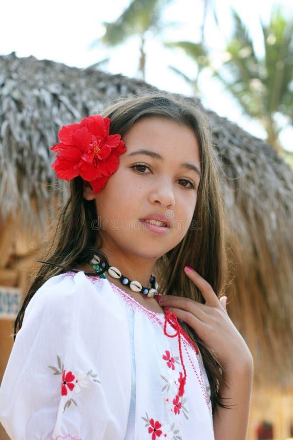 dziewczyna tropikalna zdjęcie stock