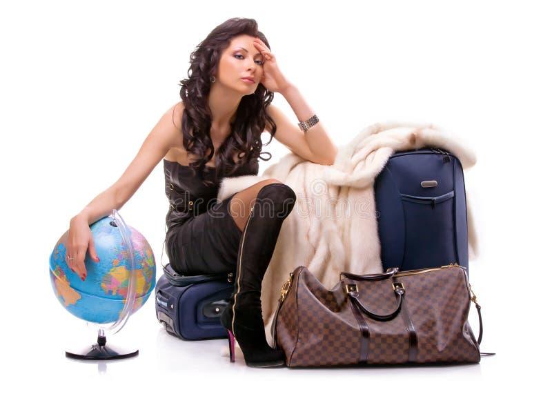 dziewczyna turysta zdjęcie stock