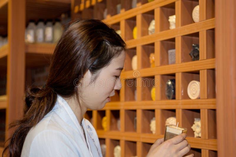 Dziewczyna ubierająca w Han Chińskim Ubraniowym portrecie obraz royalty free