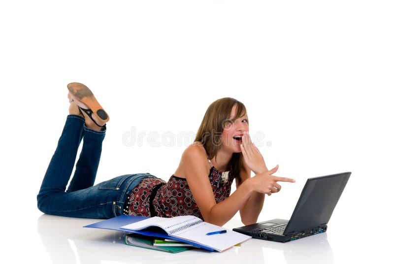 dziewczyna ucznia nastolatek obrazy stock