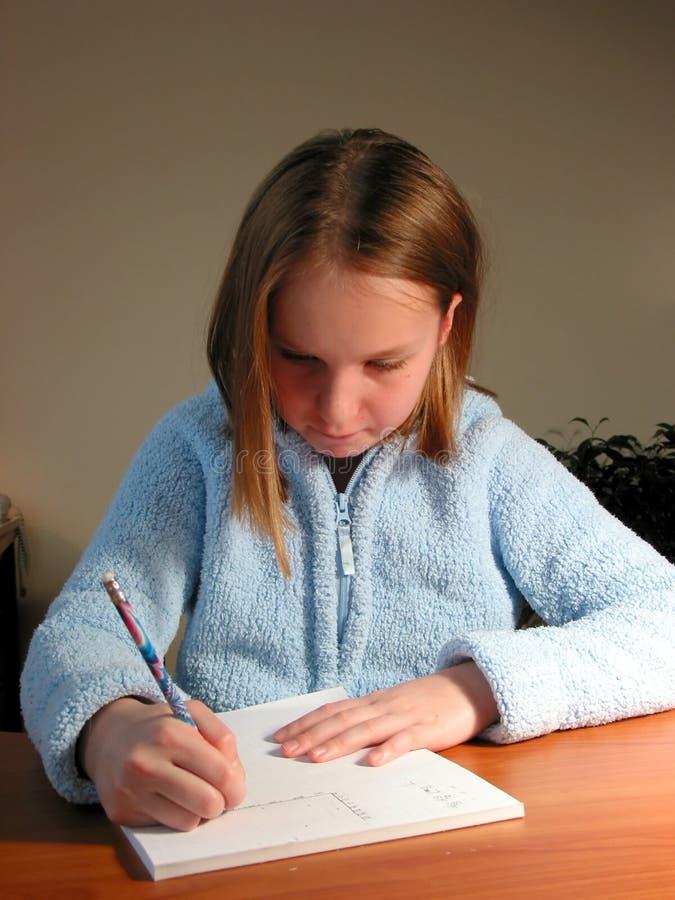 dziewczyna ucznia nauki zdjęcia royalty free