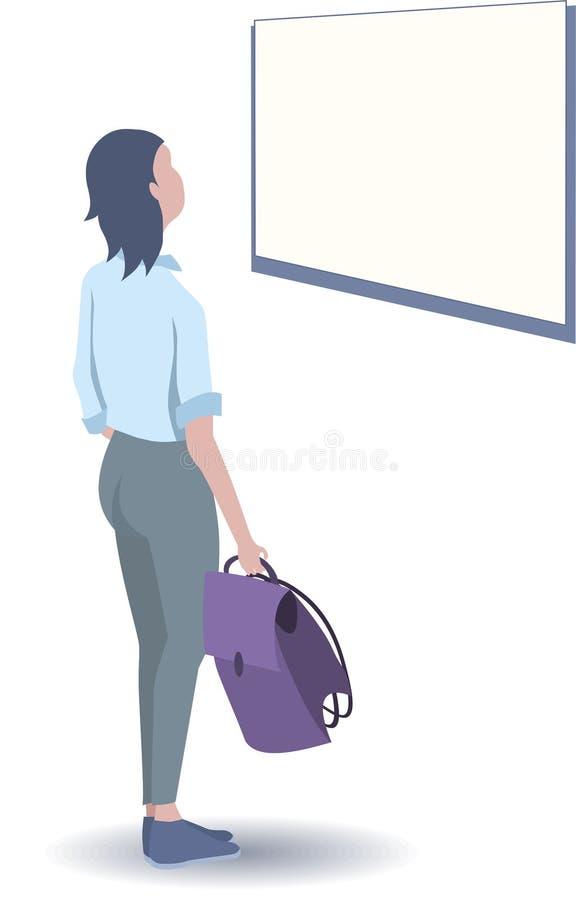 Dziewczyna ucznia spojrzeń rozkład ilustracji