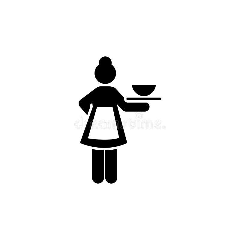 Dziewczyna, usługi, praca, hotel, karmowa ikona Element hotelowa piktogram ikona Premii ilo?ci graficznego projekta ikona podpisz royalty ilustracja