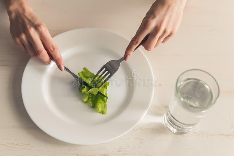 Dziewczyna utrzymuje dietę obrazy royalty free