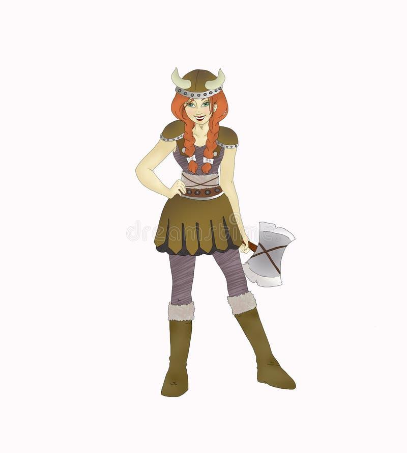 dziewczyna Viking ilustracja wektor