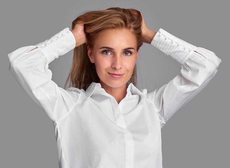 dziewczyna włosy tęsk dosyć piękny taniec para strzału kobiety pracowniani young obraz royalty free