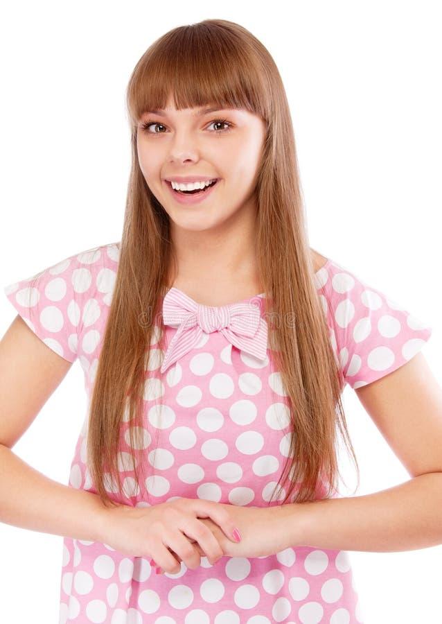 dziewczyna włosy tęsk uśmiechy obrazy royalty free