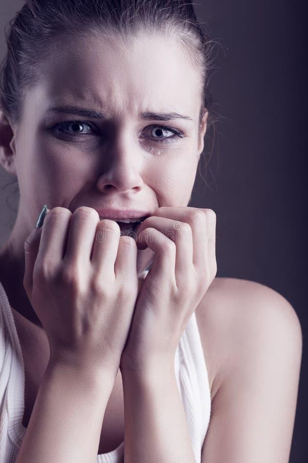 Dziewczyna w łzach zdjęcia royalty free