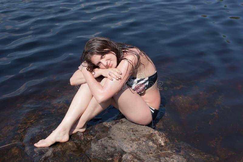 Dziewczyna w bikini fotografia stock