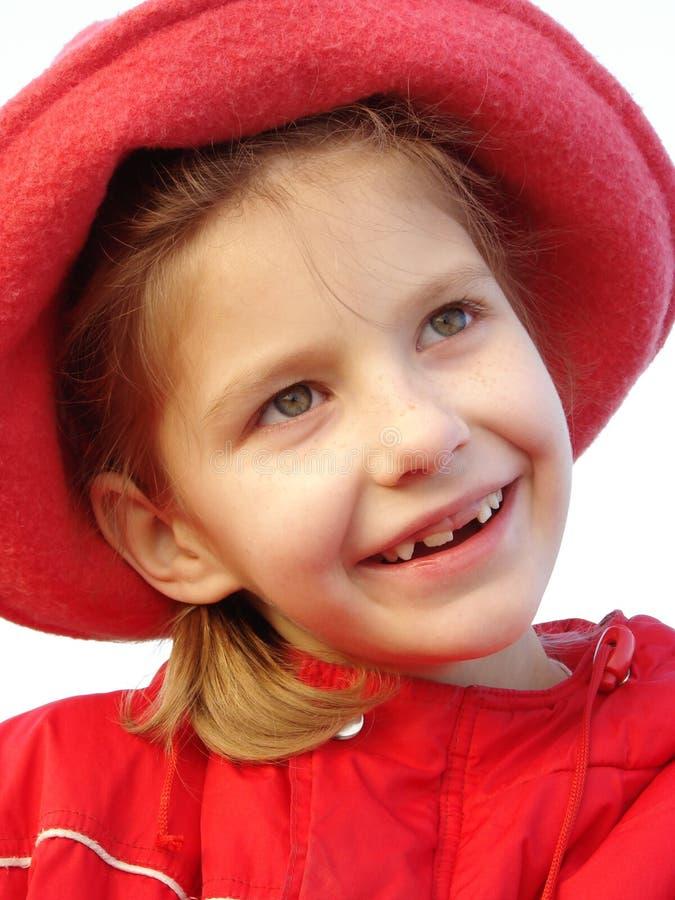 Dziewczyna w czerwieni zdjęcia royalty free