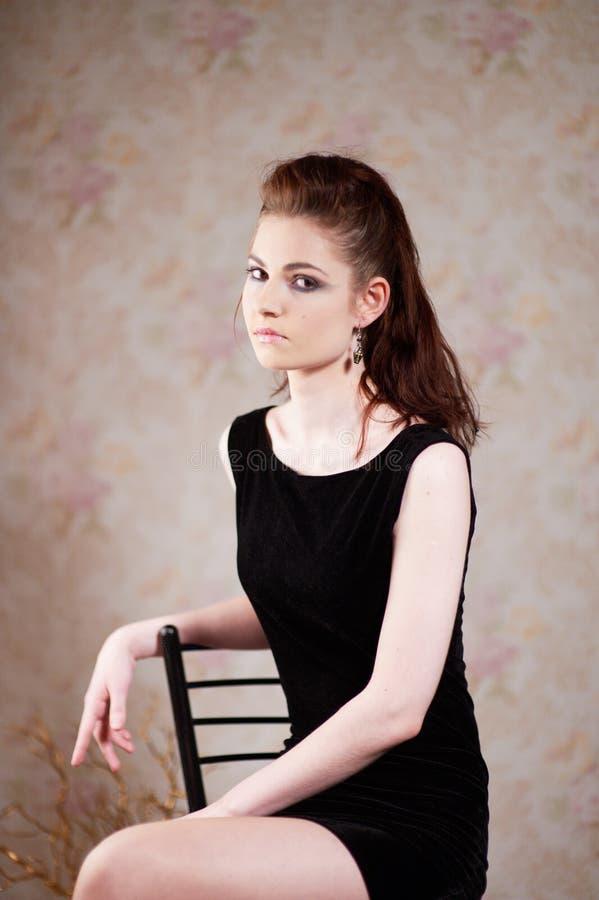 Dziewczyna w gothic wizerunku zdjęcia royalty free
