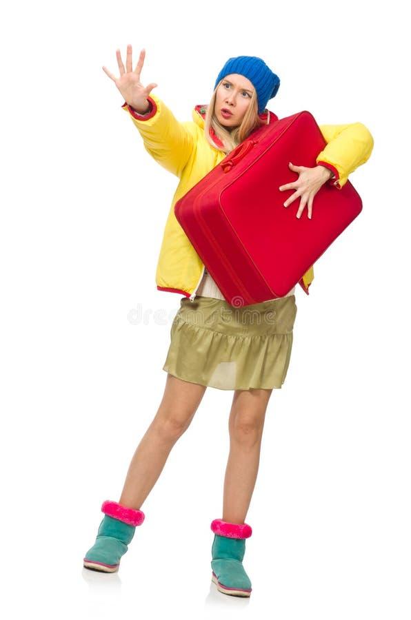 Download Dziewczyna W Jaskrawych Zim Clos Odizolowywających Na Bielu Obraz Stock - Obraz złożonej z odziewa, jaskrawy: 57652945