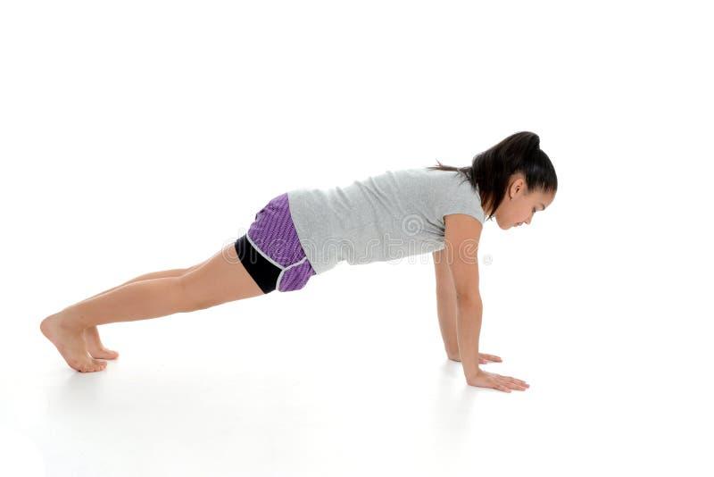 Dziewczyna w joga pozie zdjęcie royalty free