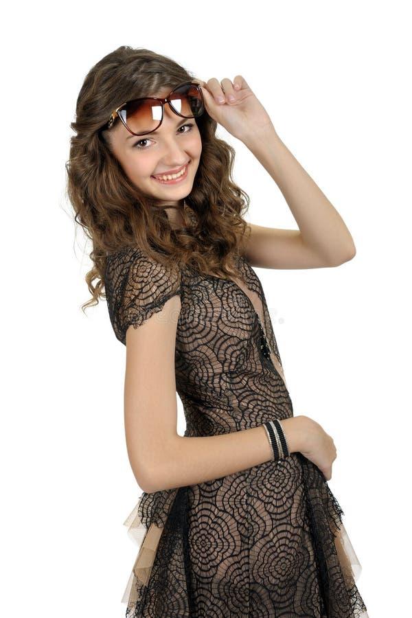 Download Dziewczyna W Krótkiej Czerni Sukni. Zdjęcie Stock - Obraz złożonej z biały, seymour: 28952650