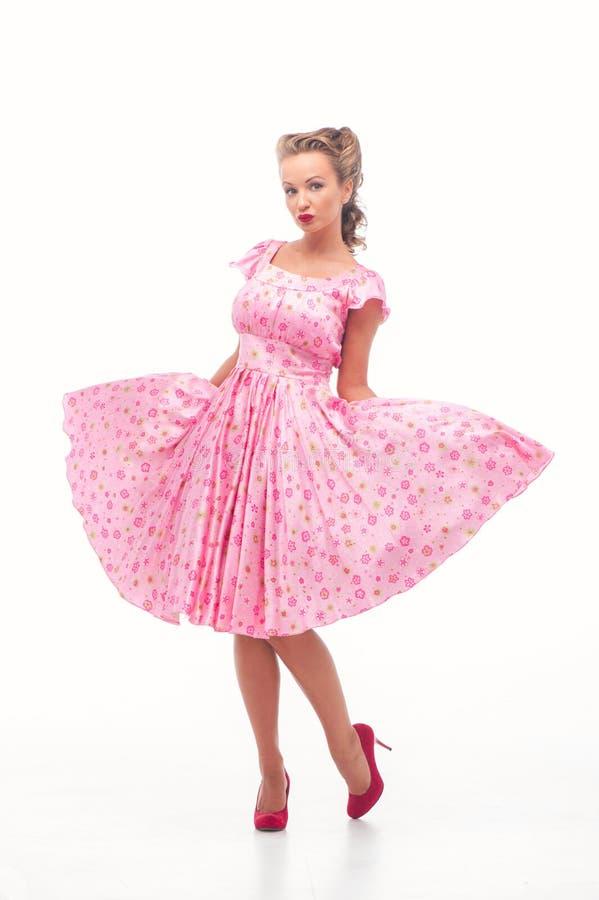 Dziewczyna w lato sukni zdjęcia stock