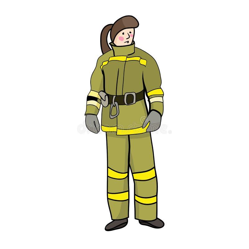 Dziewczyna w palacza mundurze ilustracja wektor