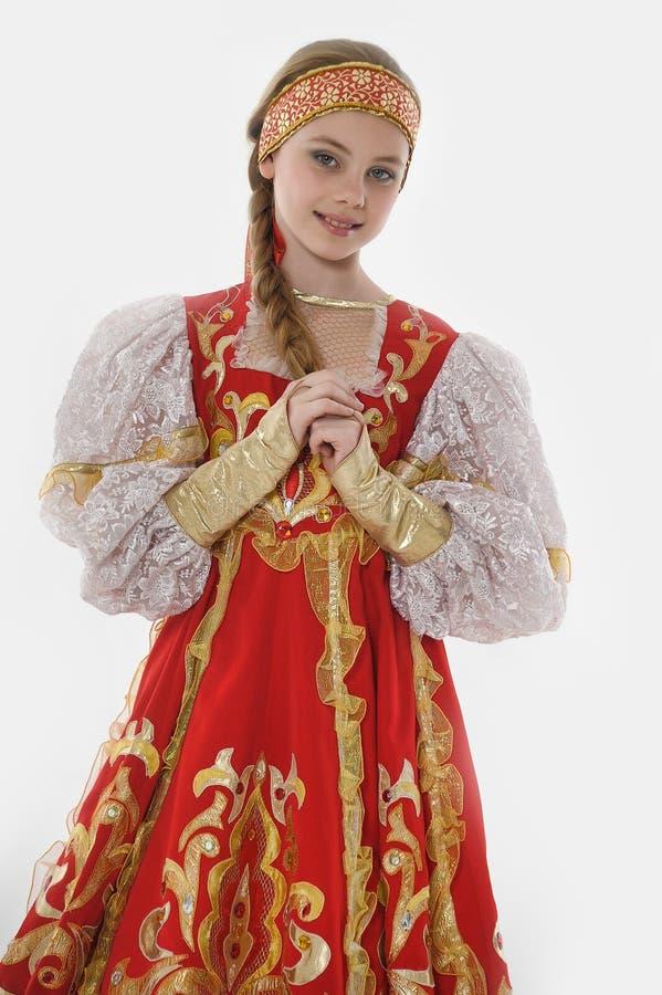Dziewczyna w rosyjskim kostiumu obraz royalty free