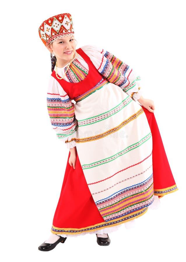 Dziewczyna w Rosyjskim krajowym kostiumu fotografia stock