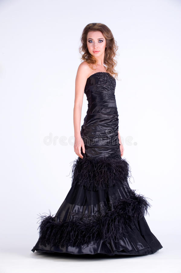 Dziewczyna w sukni obrazy royalty free