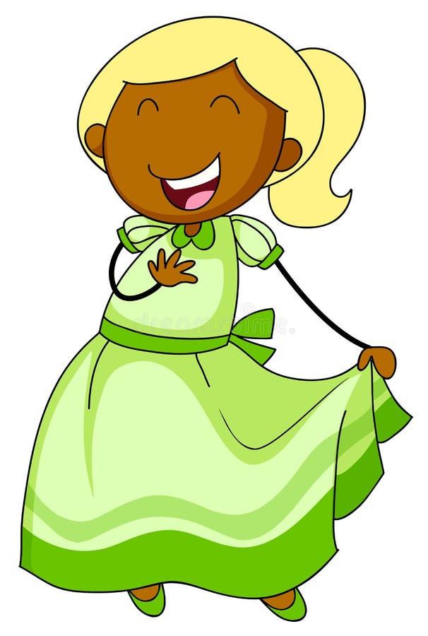 Dziewczyna w sukni ilustracji